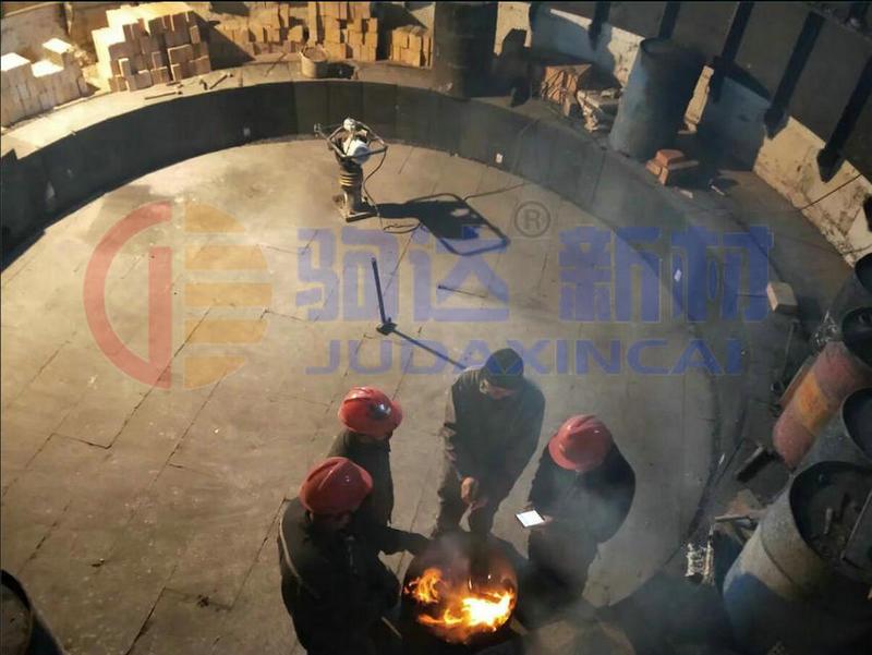 硅铁炉耐火材料施工